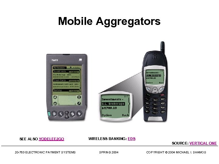 Mobile Aggregators SEE ALSO YODELEE 2 GO WIRELESS BANKING: EDS SOURCE: VERTICAL ONE 20