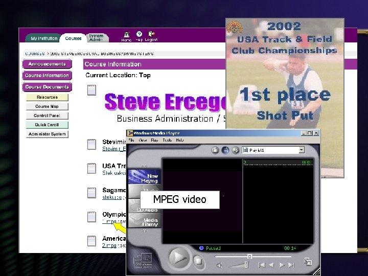JPEG image MPEG video