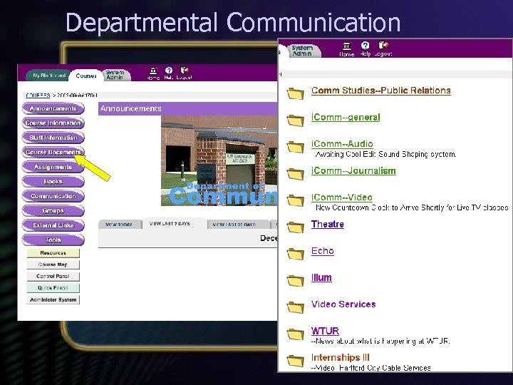 Departmental Communication