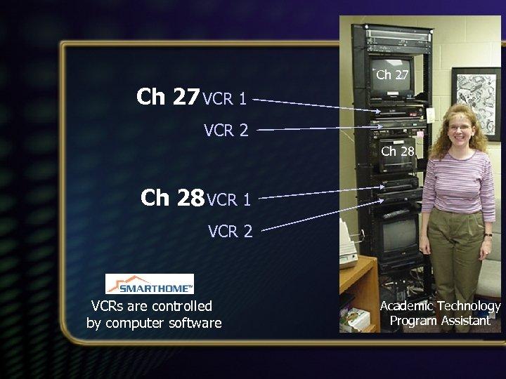 Ch 27 VCR 1 VCR 2 Ch 28 VCR 1 VCR 2 VCRs are