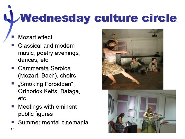 Wednesday culture circle § Mozart effect § Classical and modern § § 22 music,