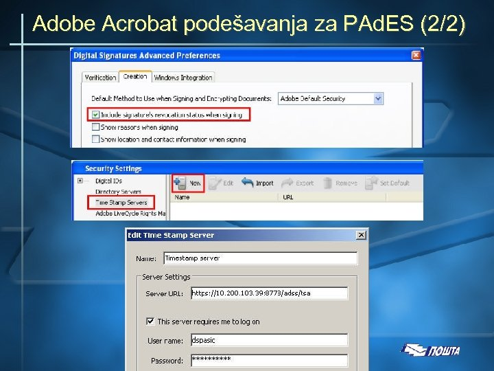 Adobe Acrobat podešavanja za PAd. ES (2/2)