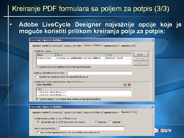 Kreiranje PDF formulara sa poljem za potpis (3/3) • Adobe Live. Cycle Designer najvažnije