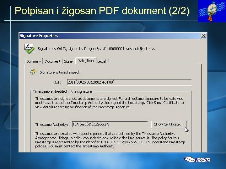 Potpisan i žigosan PDF dokument (2/2)