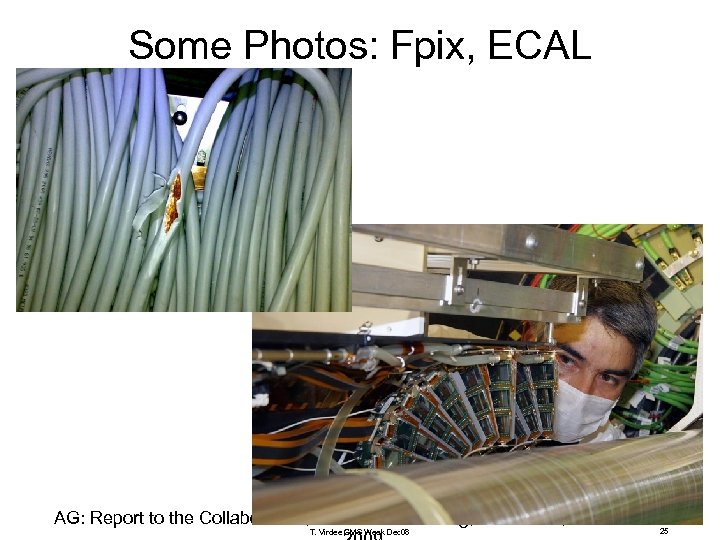 Some Photos: Fpix, ECAL AG: Report to the Collaboration, India-CMS meeting, Delhi Univ, 27