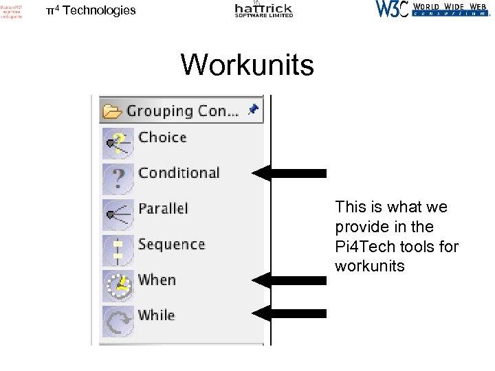 π4 Technologies Workunits This is what we provide in the Pi 4 Tech tools