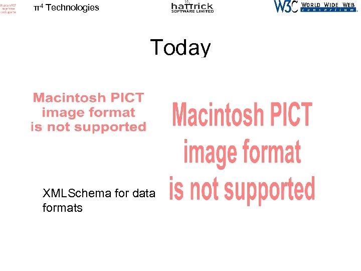 π4 Technologies Today XMLSchema for data formats