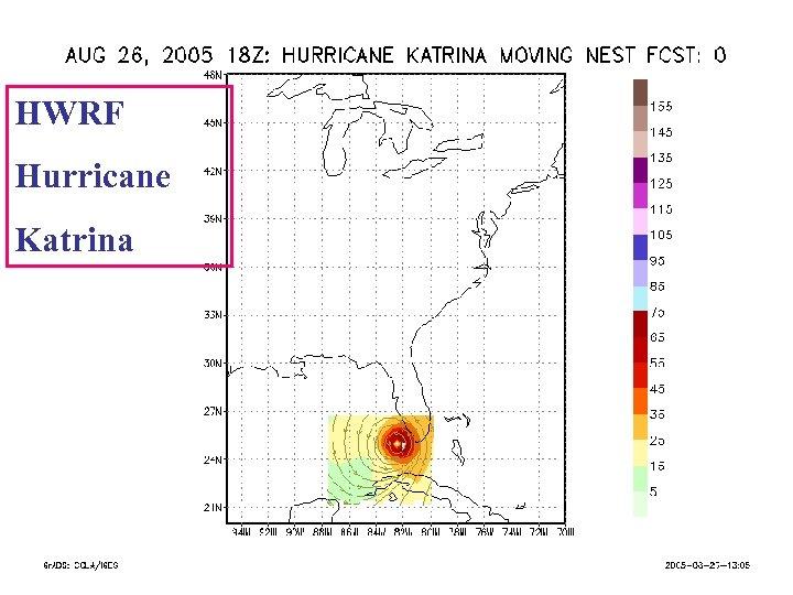 HWRF Hurricane Katrina