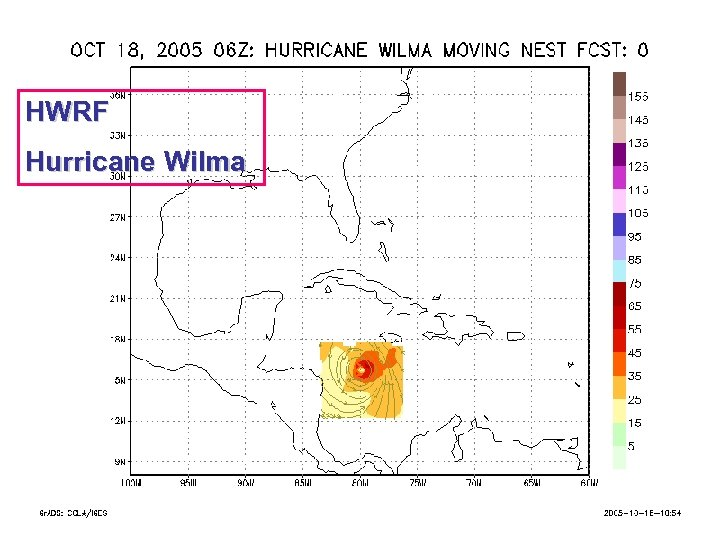 HWRF Hurricane Wilma