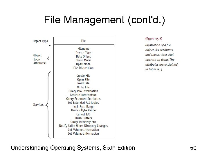 File Management (cont'd. ) Understanding Operating Systems, Sixth Edition 50