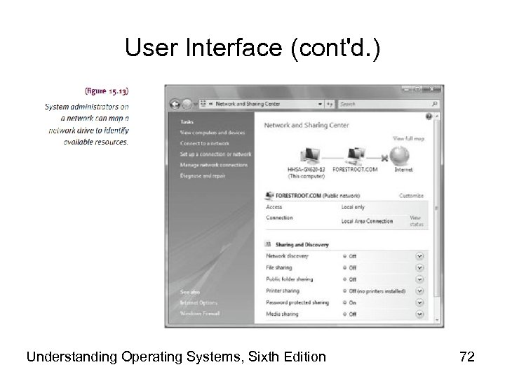 User Interface (cont'd. ) Understanding Operating Systems, Sixth Edition 72