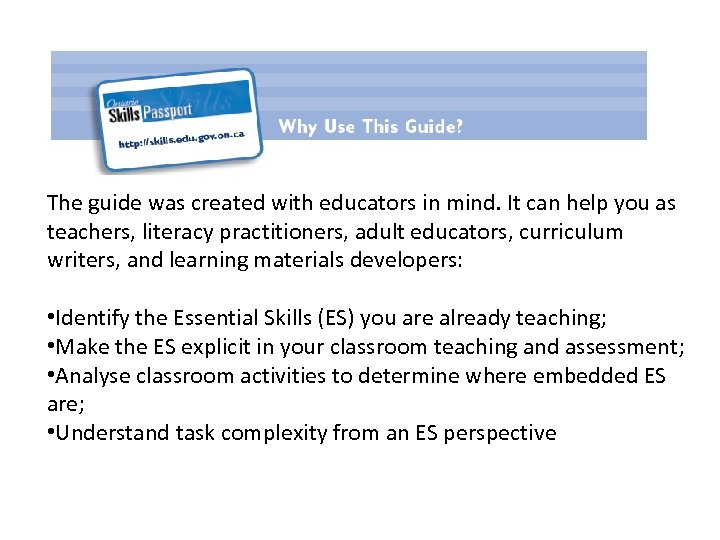 The guide was created with educators in mind. It can help you as teachers,