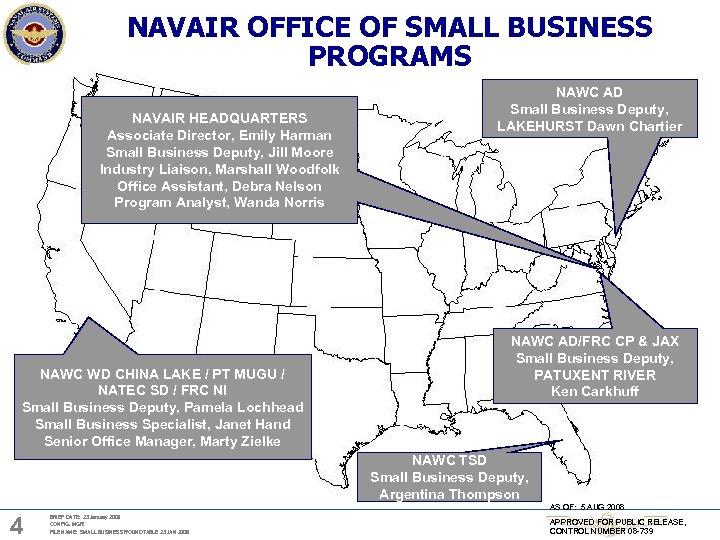 NAVAIR OFFICE OF SMALL BUSINESS PROGRAMS NAVAIR HEADQUARTERS Associate Director, Emily Harman Small Business