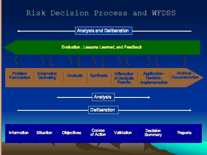 Risk Decision Process and WFDSS Analysis and Deliberation Evaluation , Lessons Learned, and Feedback