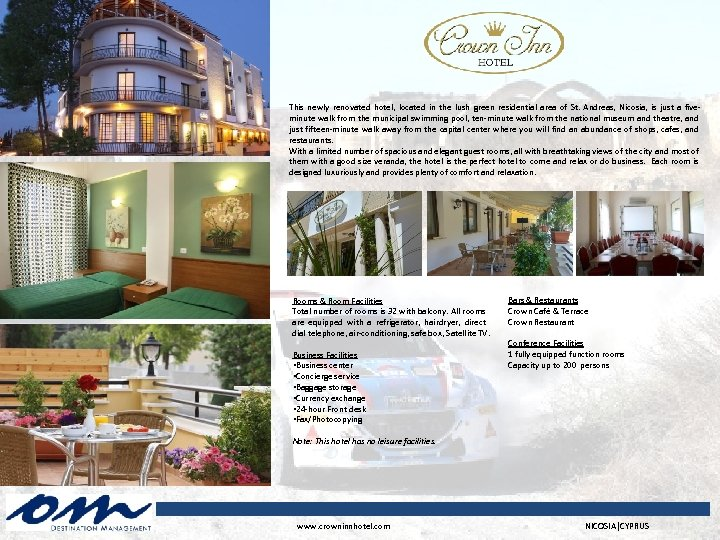 This newly renovated hotel, located in the lush green residential area of St. Andreas,