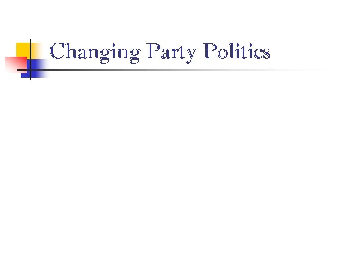Changing Party Politics