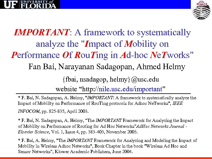 IMPORTANT: A framework to systematically analyze the