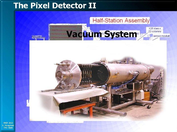 The Pixel Detector II Vacuum System FPCP 2003 K. Honscheid Ohio State