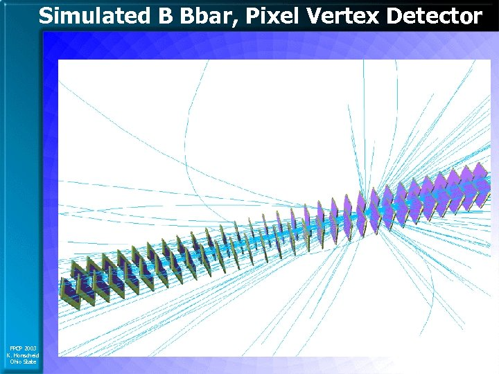 Simulated B Bbar, Pixel Vertex Detector FPCP 2003 K. Honscheid Ohio State