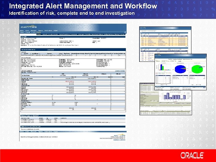 Integrated Alert Management and Workflow Identification of risk, complete end to end investigation