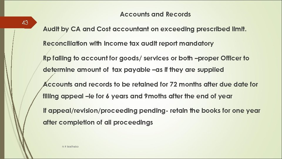 Accounts and Records 43 Audit by CA and Cost accountant on exceeding prescribed limit.