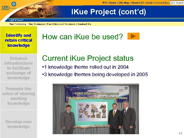i. Kue Project (cont'd) Identify and retain critical knowledge How can i. Kue be