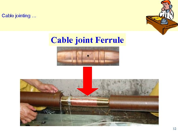 Cable jointing … Cable joint Ferrule 32