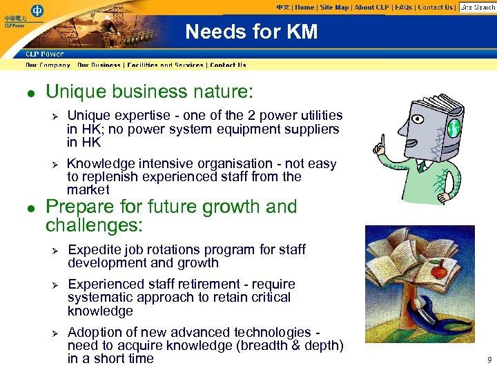 Needs for KM l Unique business nature: Ø Ø l Unique expertise - one