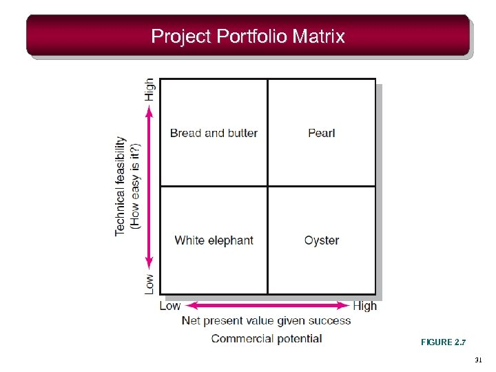 Project Portfolio Matrix FIGURE 2. 7 31