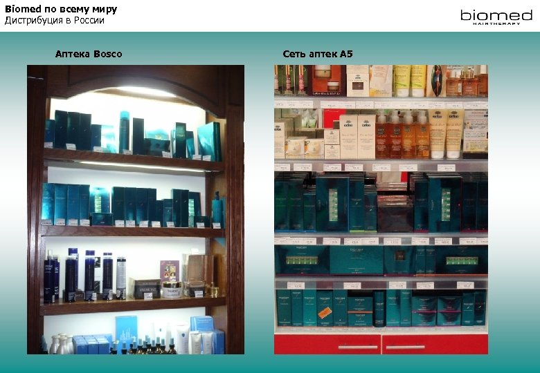 Biomed по всему миру Дистрибуция в России Аптека Bosco Сеть аптек А 5