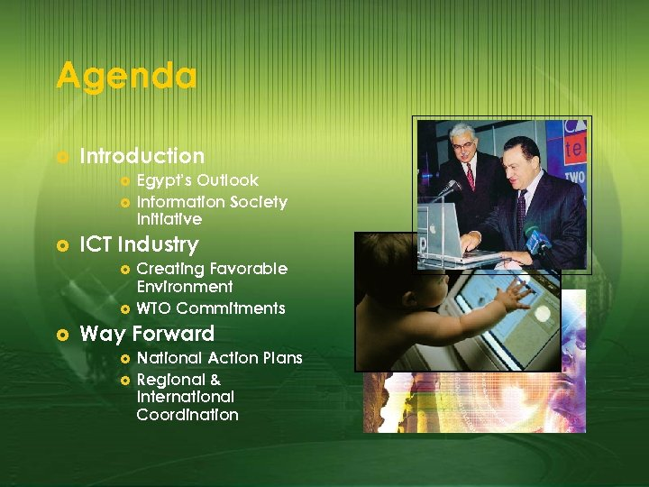 Agenda £ Introduction £ £ £ ICT Industry £ £ £ Egypt's Outlook Information