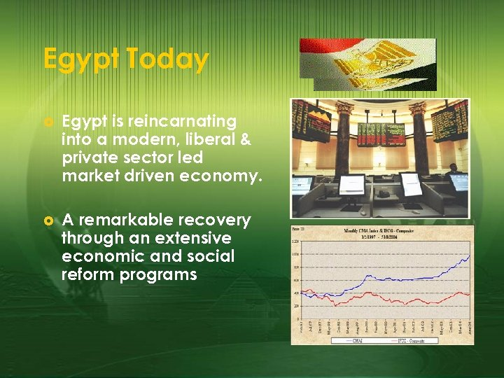 Egypt Today £ Egypt is reincarnating into a modern, liberal & private sector led