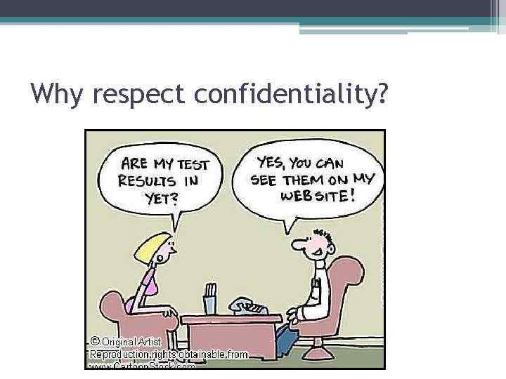 Why respect confidentiality?