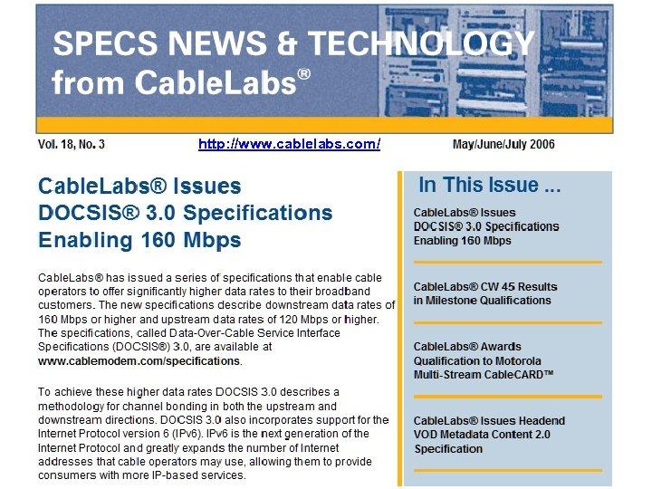 http: //www. cablelabs. com/