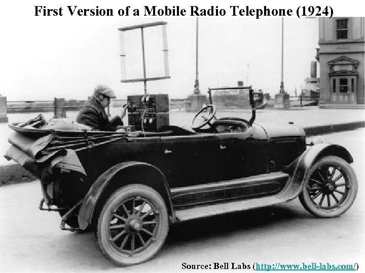 First Version of a Mobile Radio Telephone (1924) Source: Bell Labs (http: //www. bell-labs.