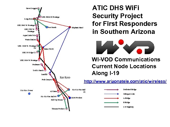 ATIC DHS Wi. Fi Security Project for First Responders in Southern Arizona Steve Scoggin