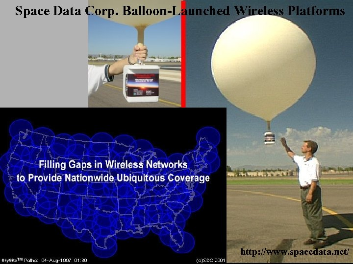 Space Data Corp. Balloon-Launched Wireless Platforms http: //www. spacedata. net/