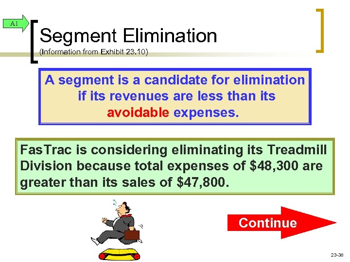 A 1 Segment Elimination (Information from Exhibit 23. 10) A segment is a candidate