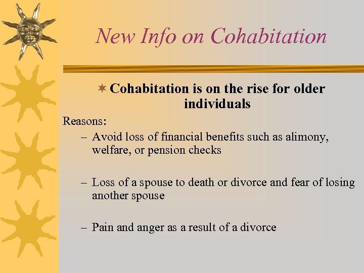 Cohabitation reasons against Sociological Reasons