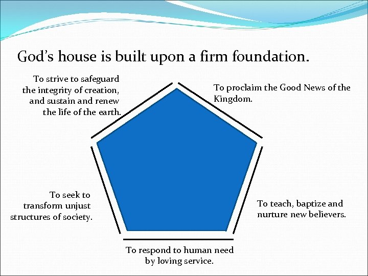 God's house is built upon a firm foundation. To strive to safeguard the integrity