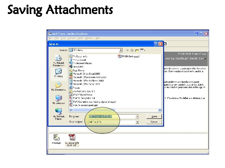 Saving Attachments