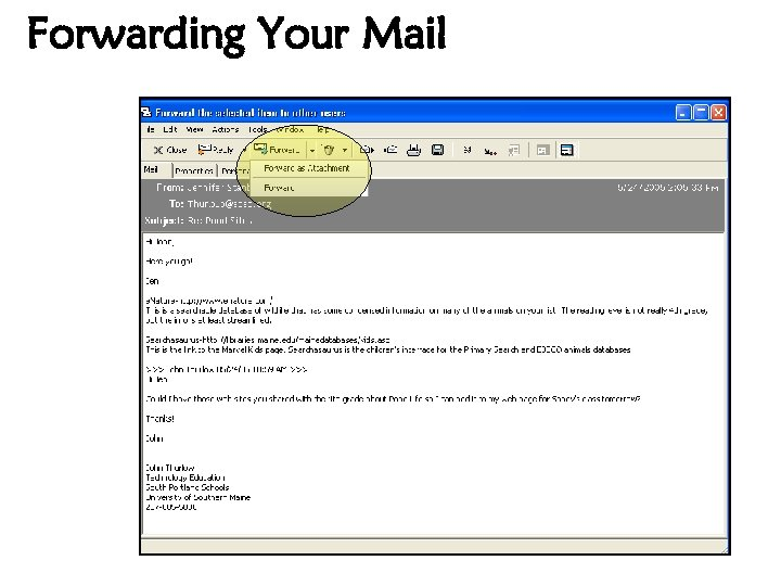 Forwarding Your Mail