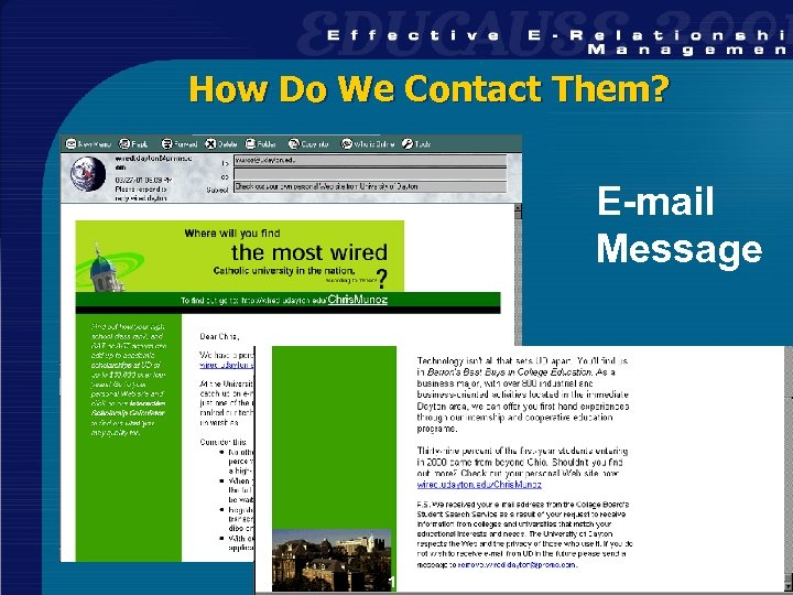 How Do We Contact Them? E-mail Message 12