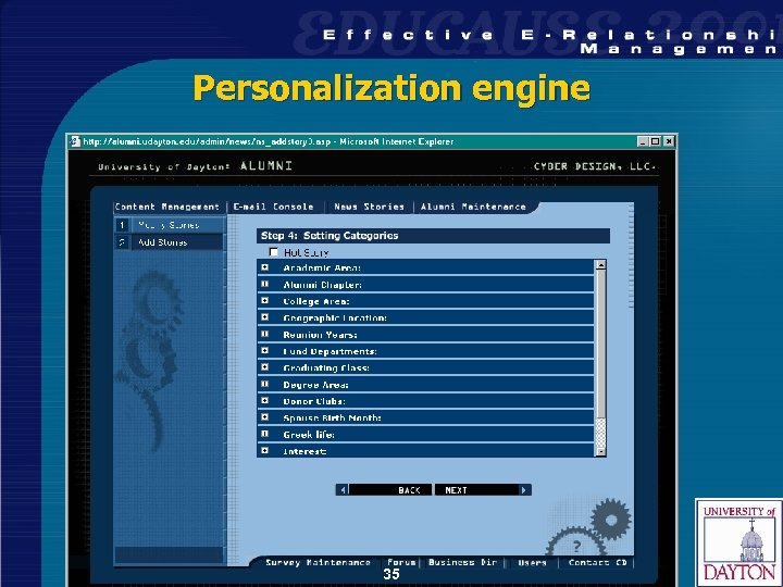 Personalization engine 35