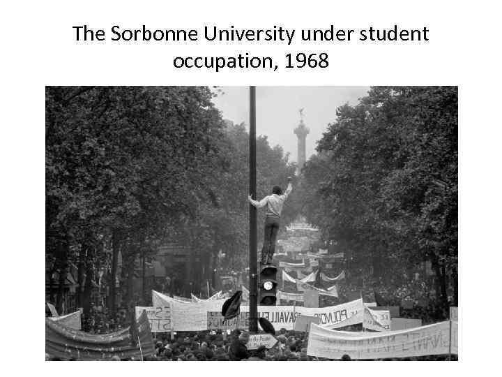 The Sorbonne University under student occupation, 1968