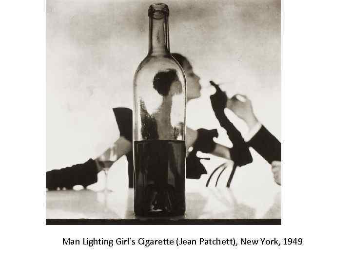 Man Lighting Girl's Cigarette (Jean Patchett), New York, 1949