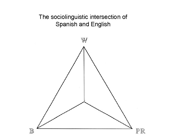 The sociolinguistic intersection of Spanish and English