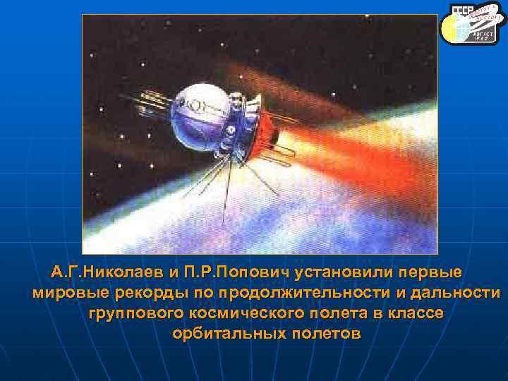 А. Г. Николаев и П. Р. Попович установили первые мировые рекорды по продолжительности и