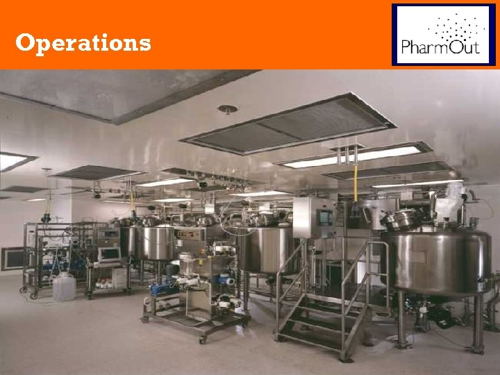 Operations Manufacturing Process 1. 2. 3. Fermentation = Recombinant Protein = Bacterial Protein Recovery