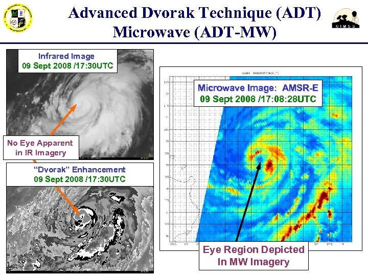 Advanced Dvorak Technique (ADT) Microwave (ADT-MW) Infrared Image 09 Sept 2008 /17: 30 UTC